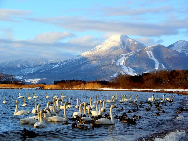 """Lake Inawashiro - also known as the """"Heavenly Mirror Lake"""""""