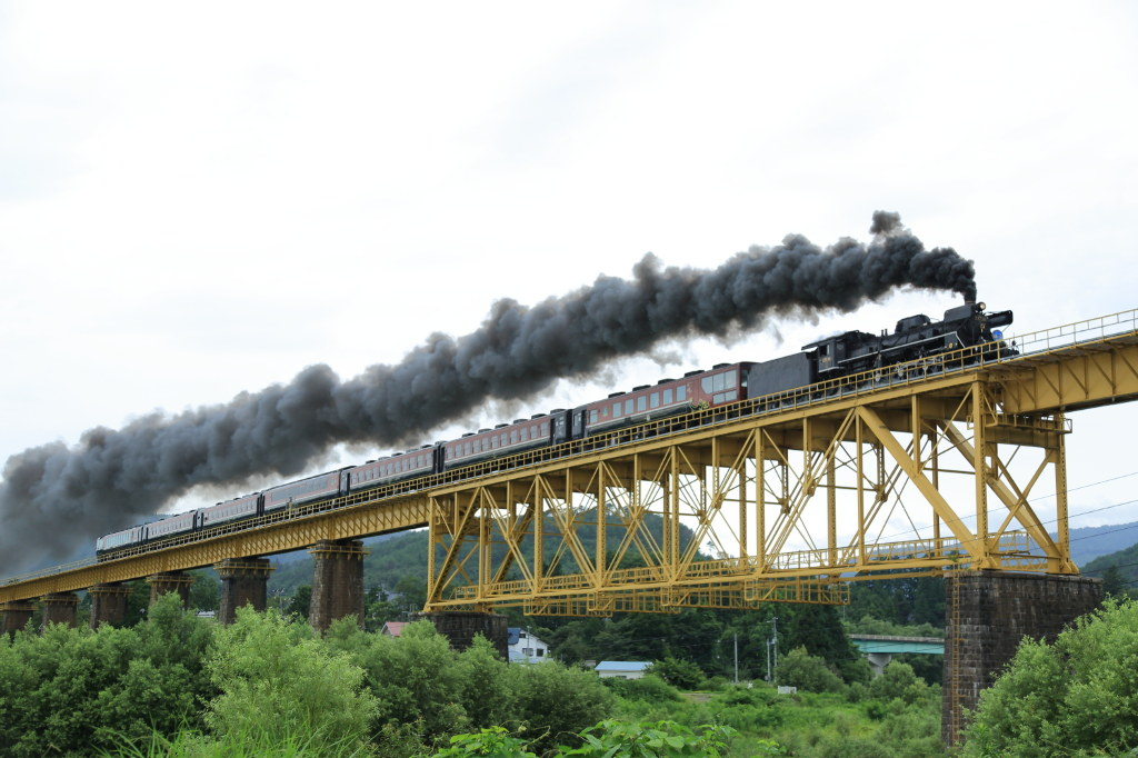 SL-Steam train in Japan