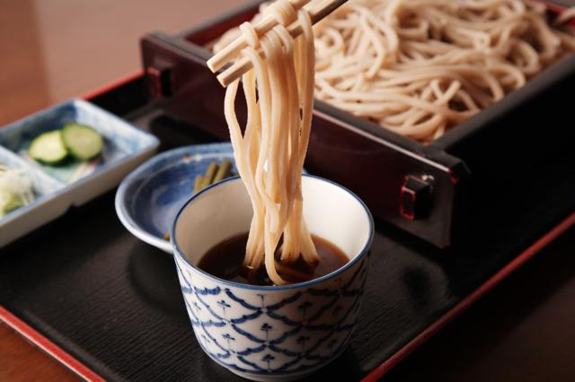 Soba-Traditional thin noodle in Japan made from buckwheat flour